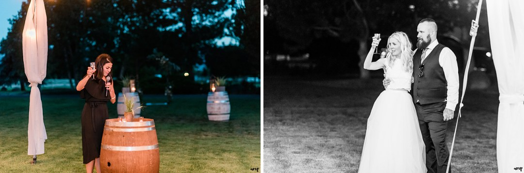 Maid of Honor toast | Grand Junction Backyard Wedding | amanda.matilda.photography