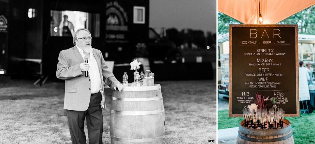 Father of the Groom's toast || Grand Junction Backyard Wedding | amanda.matilda.photography