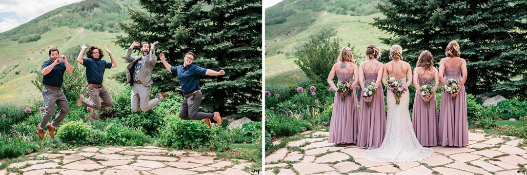 Wedding party at the Mountain Wedding Garden