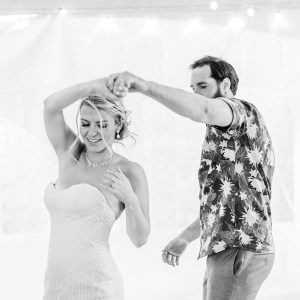Dan and Courtney share their first dance at the Mountain Wedding Garden