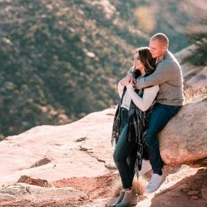 Trenton & Jamie's Engagement on the Colorado National Monument | amanda.matilda.photography