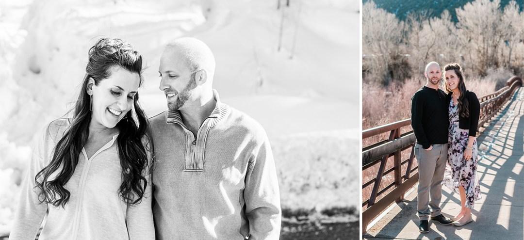 Joe & Adrienne's winter engagement in Ouray | Amanda Matilda Photography