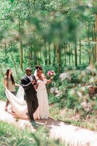 Black bride gets married at Maroon Bells wedding in Aspen | Amanda Matilda Photography