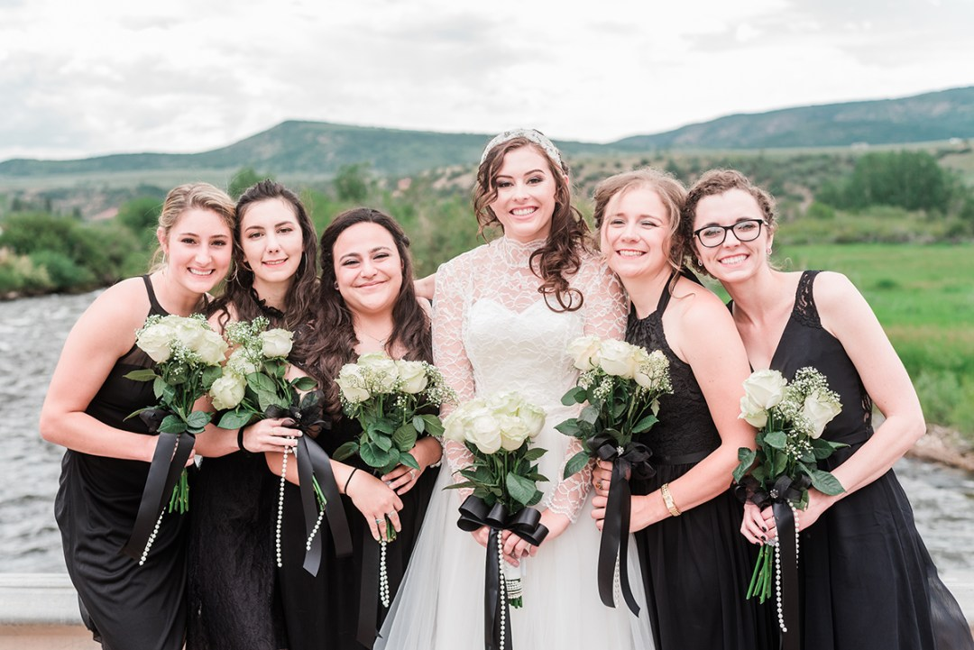 Bridesmaids and Annie at Rolling R Ranch near Meeker