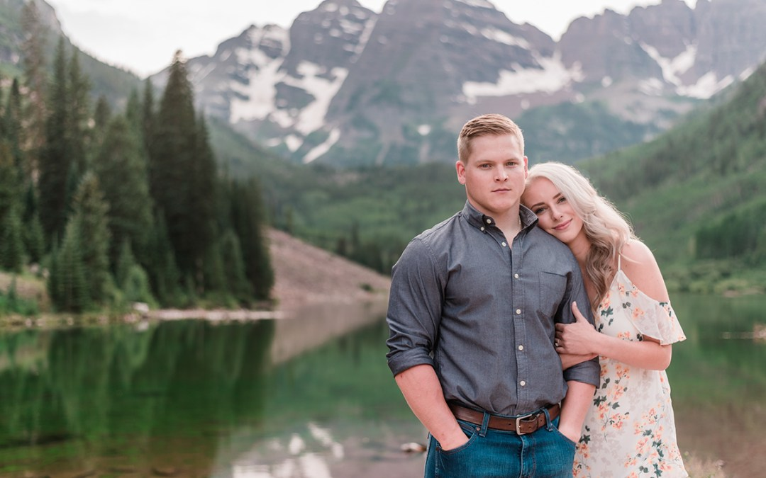 Tyler & Taylor | Aspen Engagement Photos at Maroon Bells