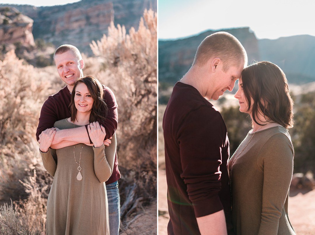 David & Kristen | Engagement Session at the Colorado National Monument