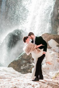 Marion & Nathan | Winter Engagement Photos at Rifle Falls State Park