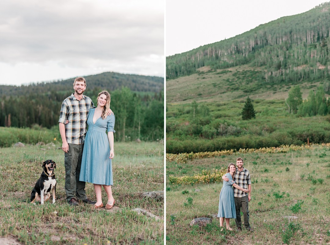 Glenwood Springs Engagement Photos along old 4 Mile Road