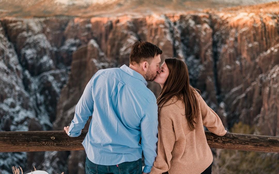 Amanda & Tucker   Engagement Photos at Black Canyon of the Gunnison