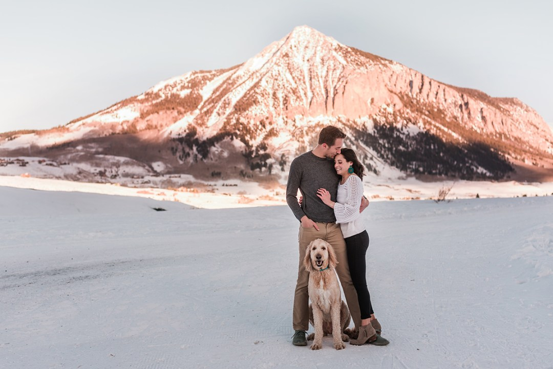Nathan & Chrystina | Crested Butte Engagement Photos