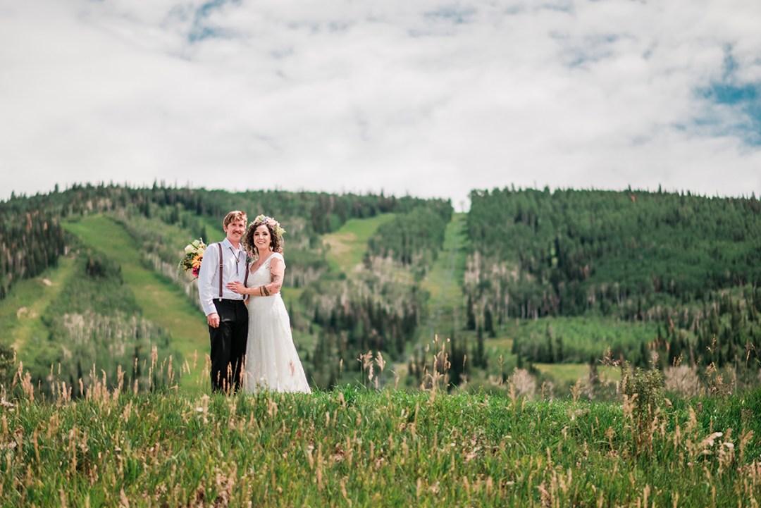 Sam & Kaitlyn   Powderhorn Ski Resort Wedding