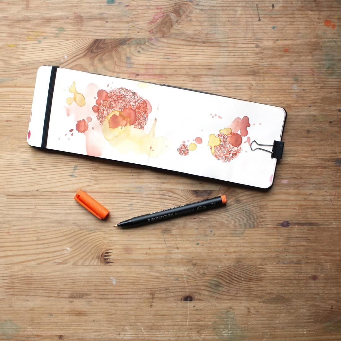 Earthy Orange Sketchbook by Amanda Michele Art