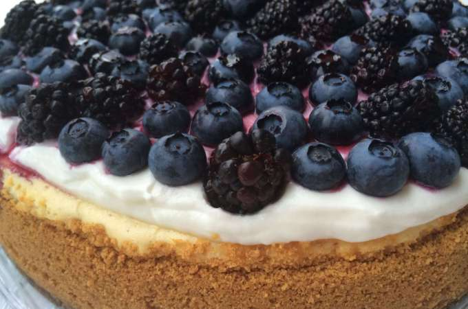 Very berry blueberry cheesecake