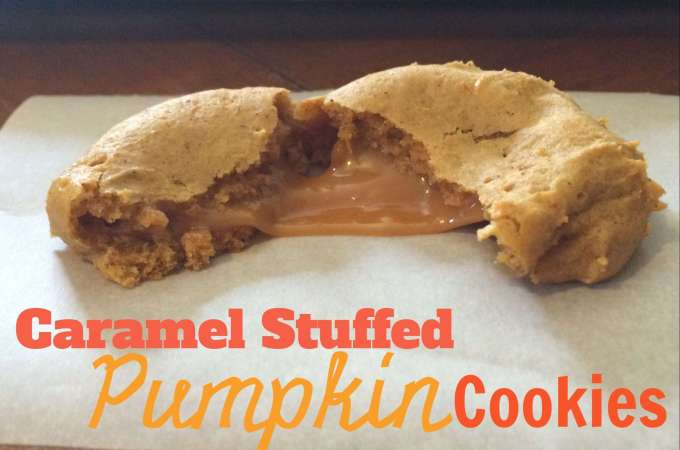 Eggless Pumpkin Caramel Cookies