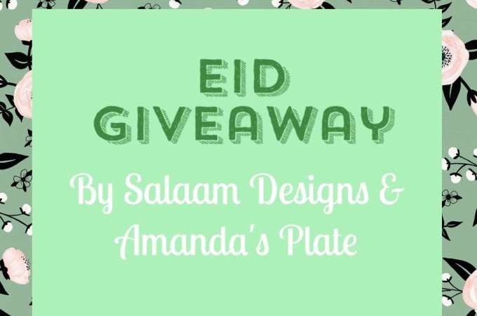 Eid Mubarak and a Giveaway!