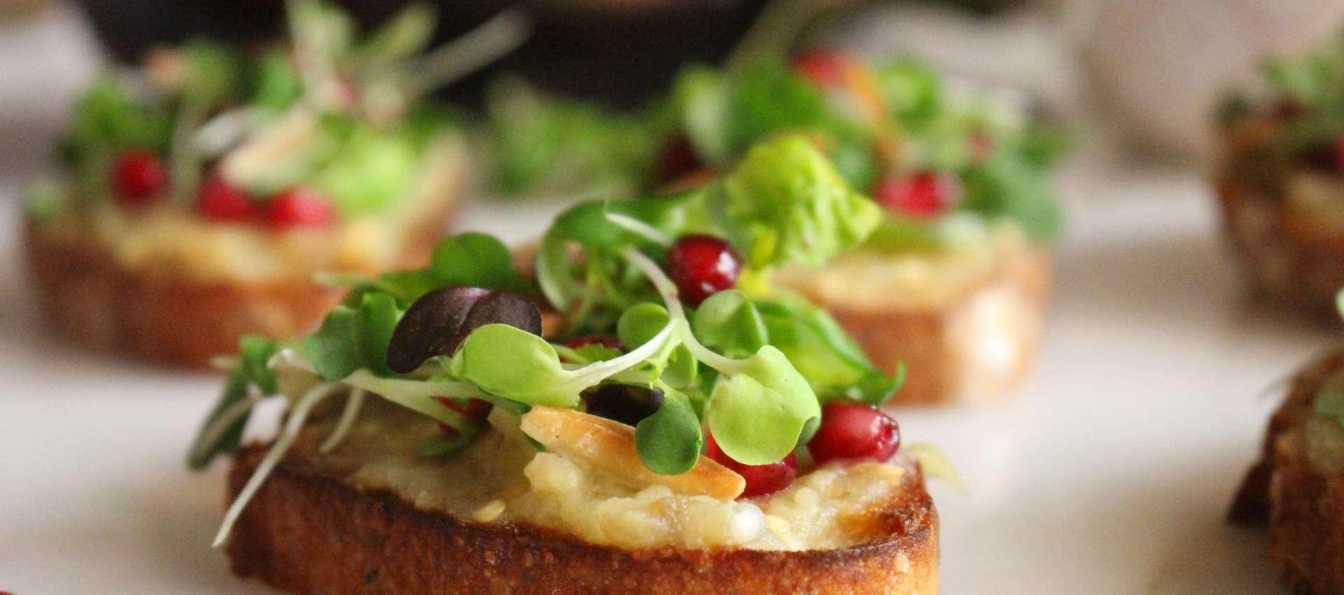 Eggplant toast, eggplant and jalapeno toast,
