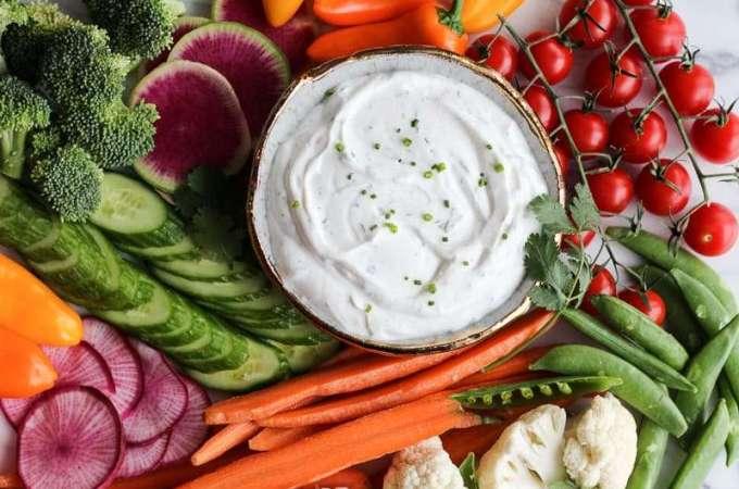 Healthy Vegetable Dip