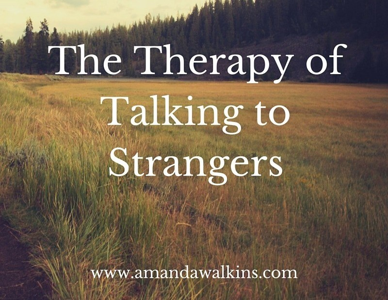 talking to strangers can cure more than the salt breeze and tropical drinks on an island