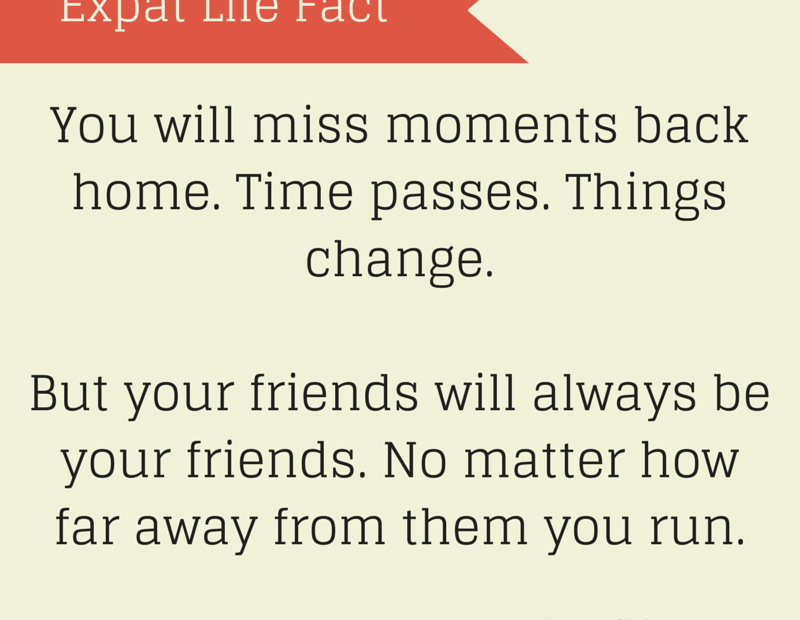 Expat life means missing moments