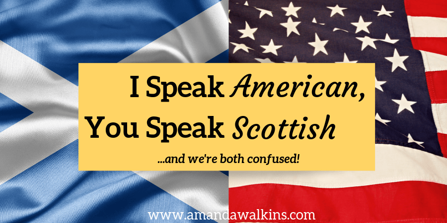 American and Scottish flags for expats learning to communicate