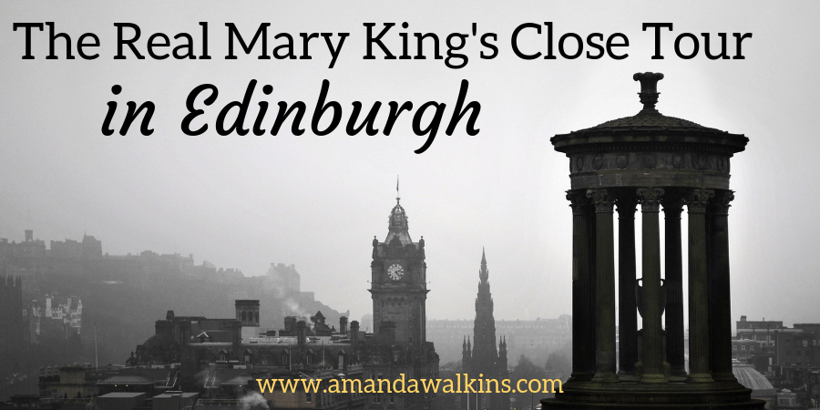 Edinburgh skyline in a fog sets the mood for the Real Mary King's Close tour