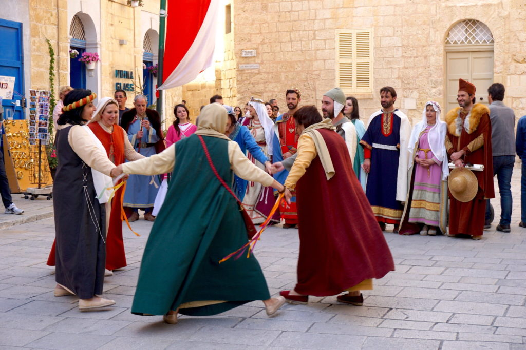 dancing at Mdina Medieval Festival