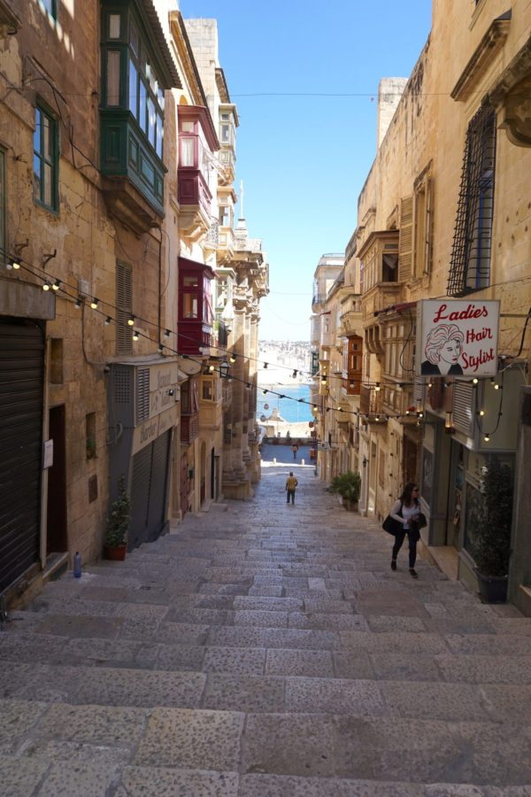 Walking the many-leveled city of Valletta