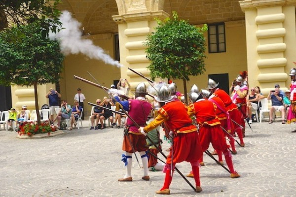 Guns fired at the In Guardia Parade in Valletta