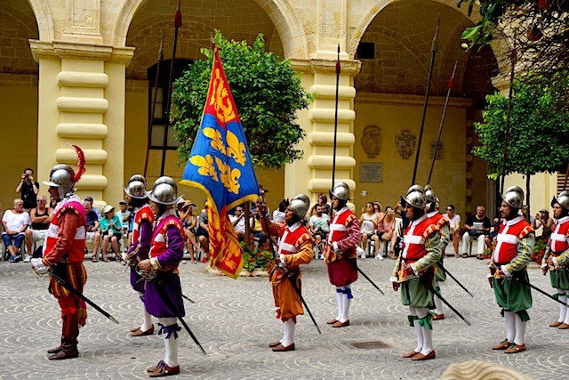 Watching the In Guardia Parade in Malta