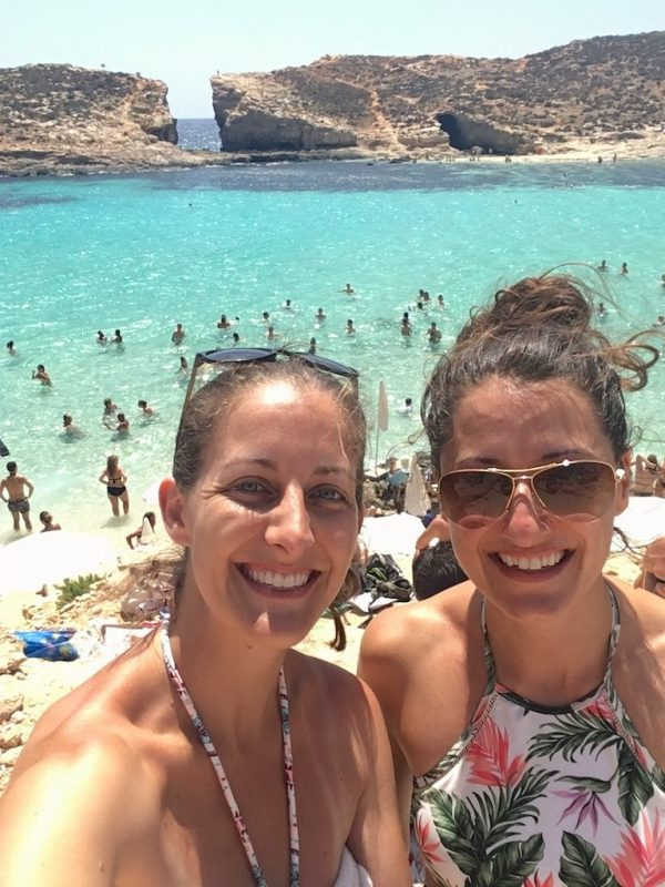 When friend visit your expat home, you show them the most beautiful - albeit touristy - parts of it! Blue Lagoon at Comino in Malta