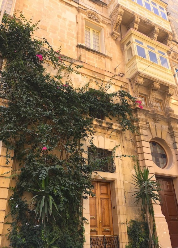 Beautiful buildings of Valletta, Malta