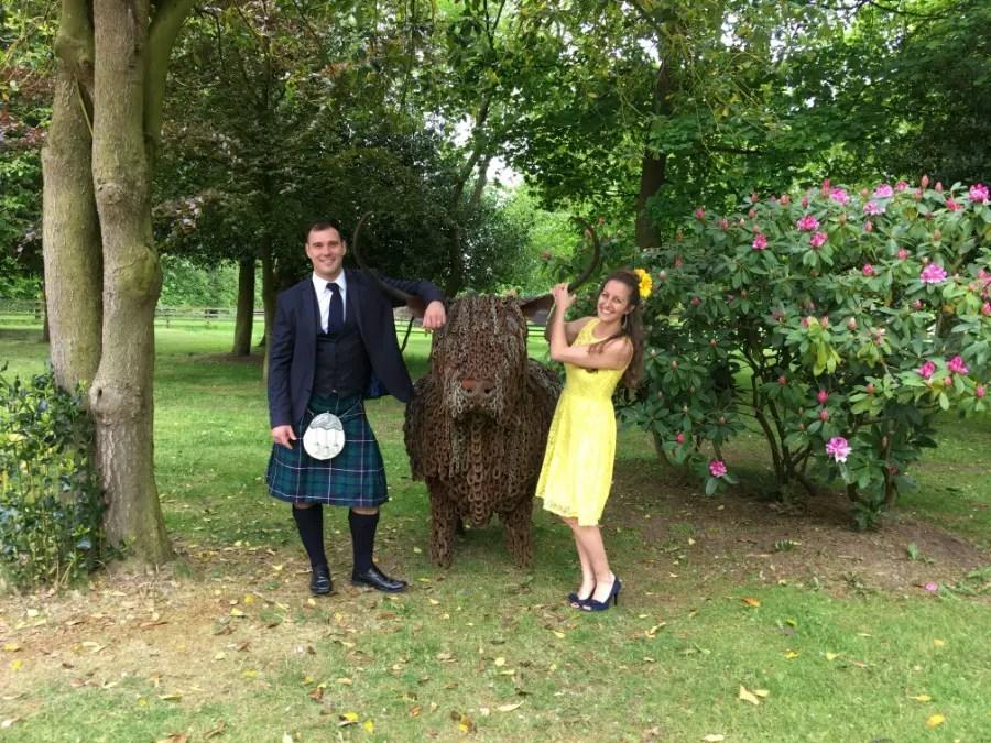 Jonathan Clarkin Amanda Walkins wedding in Scotland