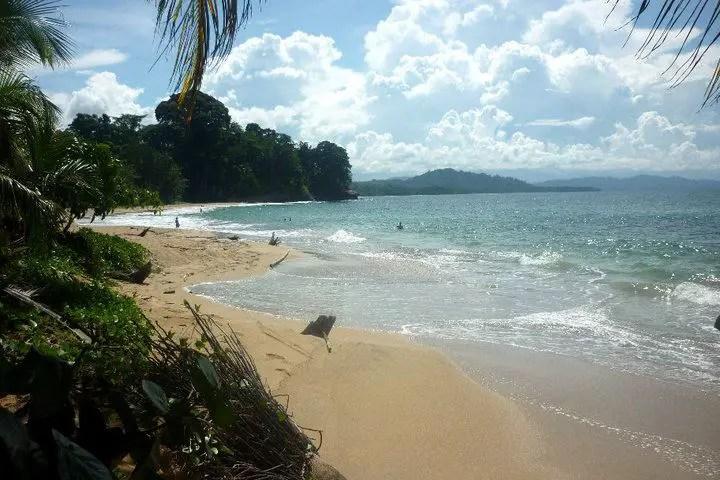 golden sand beach on the Caribbean coast of Costa Rica