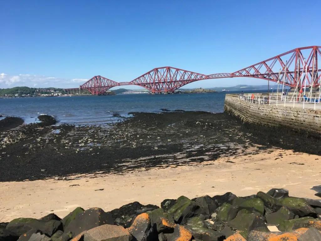 Forth rail bridge outside of Edinburgh Scotland