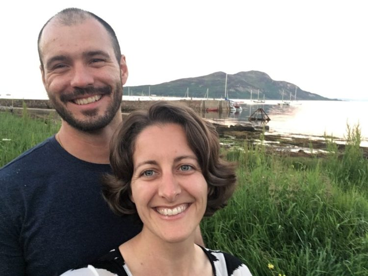 Jonathan Clarkin and Amanda Walkins on the Isle of Arran in Scotland