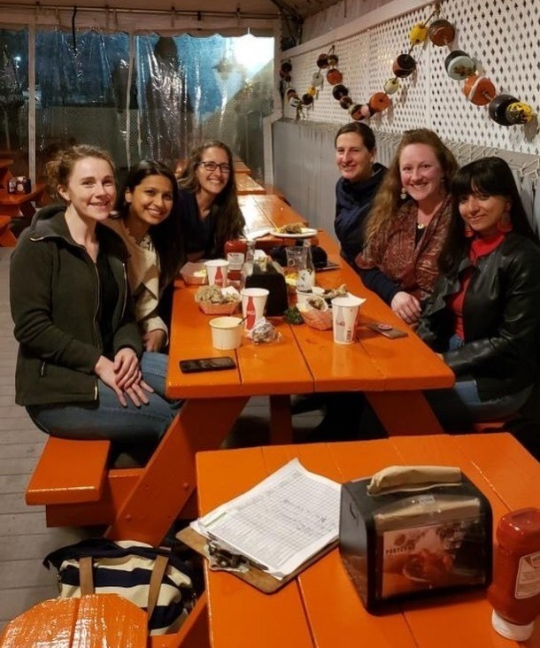 WITS ladies at a table at Portland Lobster Co