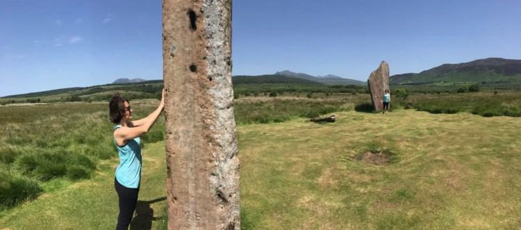 Amanda Walkins Outlander time travel at Machrie Moor standing stones