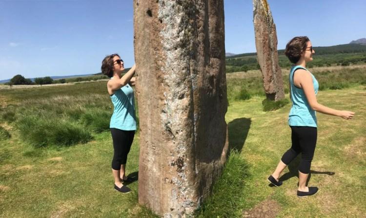 Amanda Walkins traveling through time at the standing stones of Arran