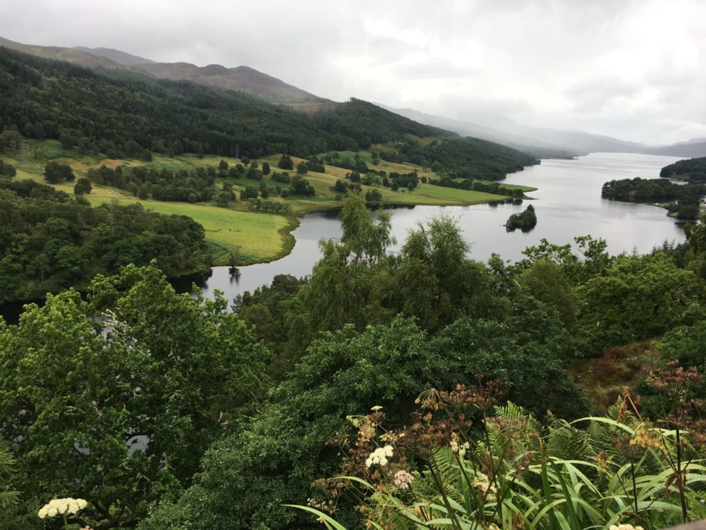 Queen's view outside of Pitlochry in Scotland