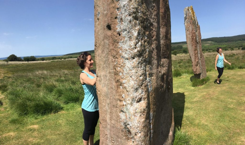 Amanda Walkins standing stones at Machrie Moor time travel