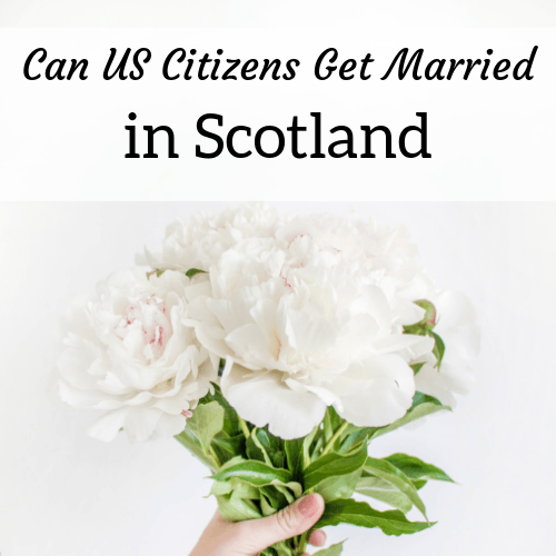 square header image for an article about US citizens getting married in Scotland
