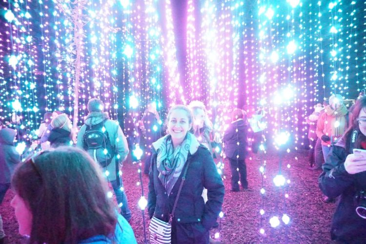 Amanda Walkins at the Enchanted Forest in Pitlochry