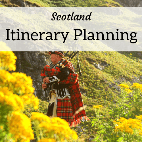 Scotland itinerary planning help from expat Amanda Walkins - image of a piper in tartan
