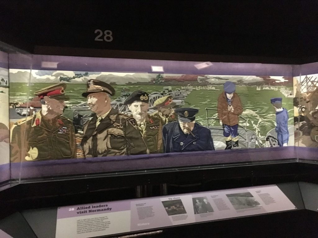 Overlord Embroidery in the D-Day Story Museum in Portsmouth