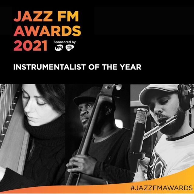 It's been a rollercoaster year! I'm so honoured for the Jazzfm nomination and such a buzz to see it in Jazzwise with my name next to so many people I admire. All very very exciting. ☺️ (have to say, I'm only a 1/3 of my band so 🙌to @jontriplet1 and @aidan_bassplayer and @jazzmanrecords ) #awards #jazz #jazzharp @jazzmanrecords #nomination