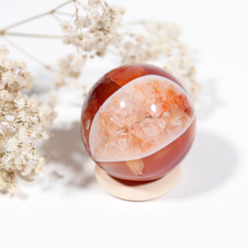 Sphère cornaline, modèle 2