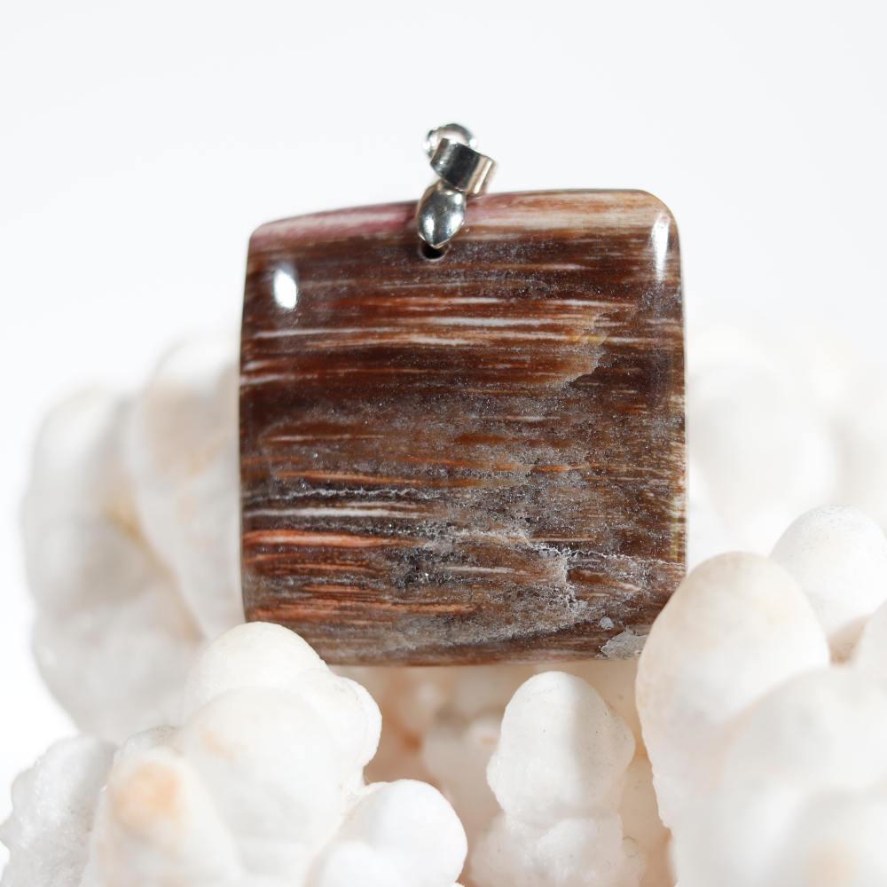 Modèle 4 de pendentif en bois fossile
