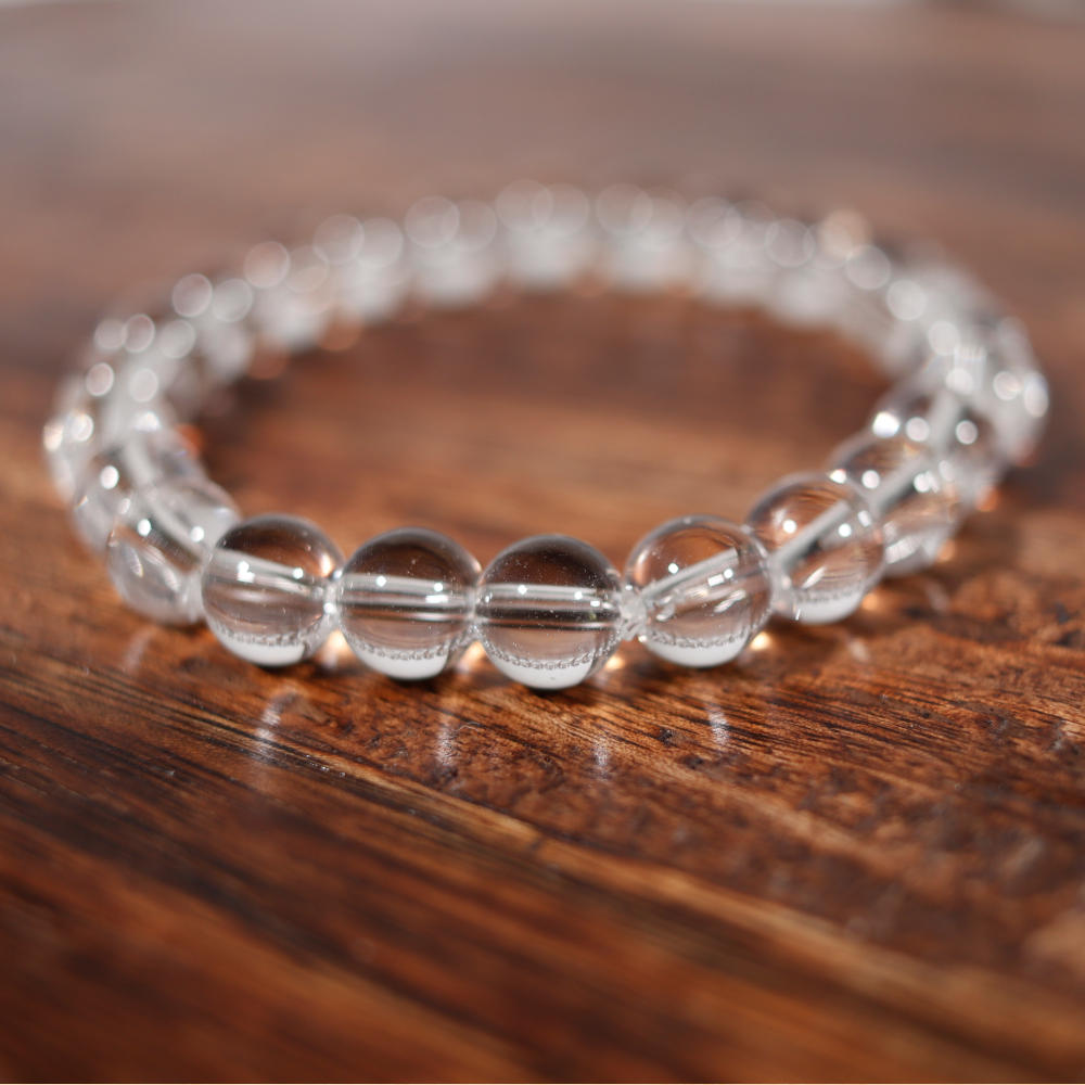 Bracelet en cristal de roche, de 8 mm