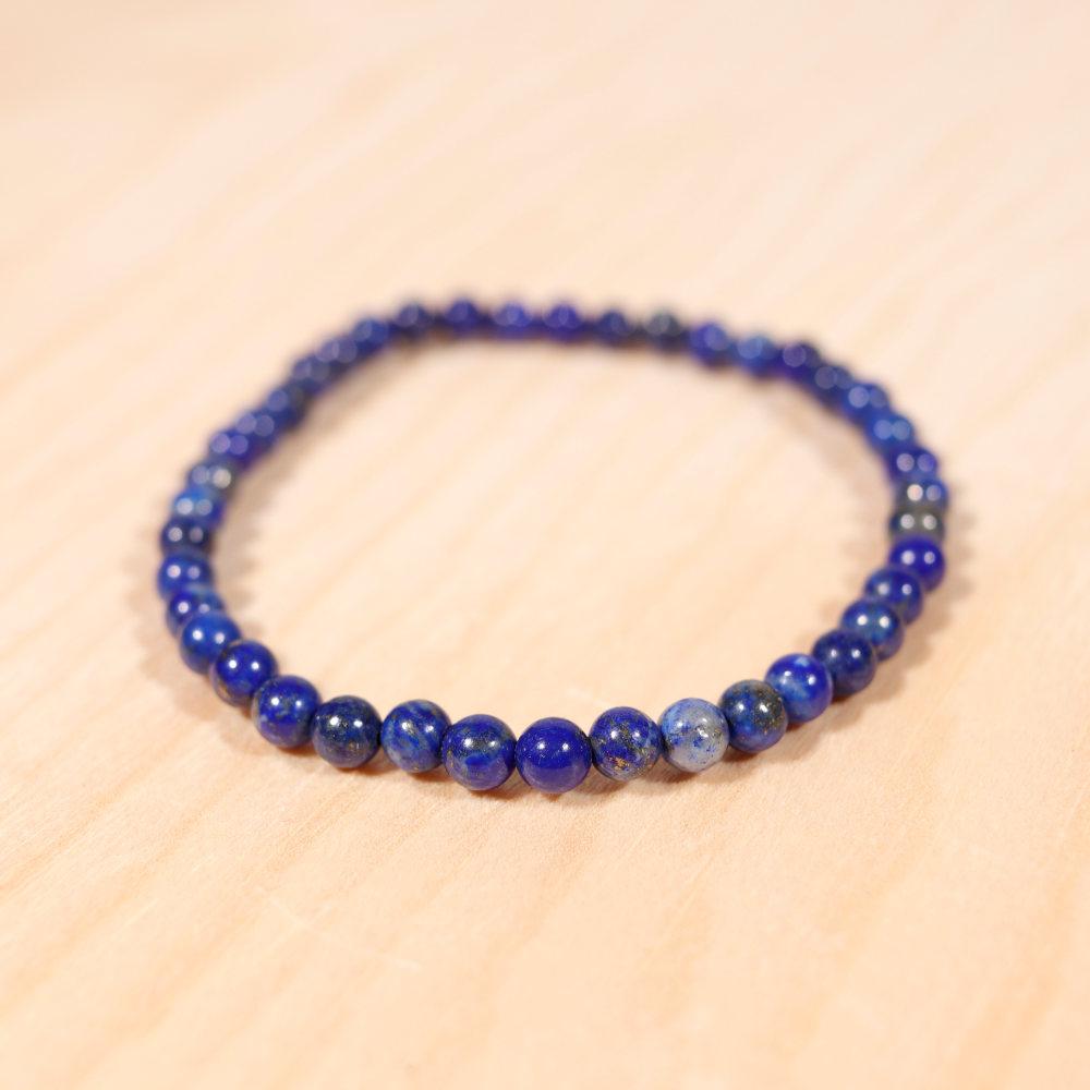 Bracelet en lapis-lazuli, 4 mm