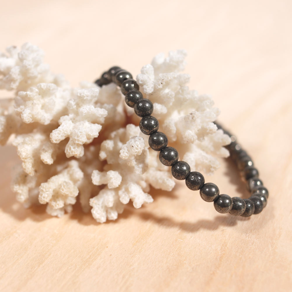 Bracelet en pyrite